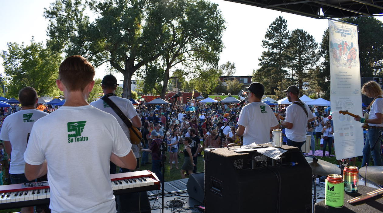 Attendees enjoy Sunnyside Music Festival